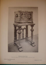 antique print spanish Chest Truhe 1888 Paul Stotz Stuttgart design lichtdruck