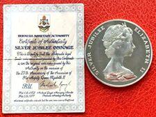 Bermuda 1977 Sailing boat 25 Dollars 1.62oz Silver Coin + Original Certificate