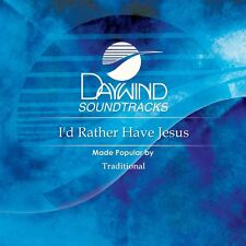 I'd Rather Have Jesus - Traditional -  Accompaniment CD NEW