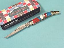 "ROUGH RIDER RR916 STONEWORX Small TOOTHPICK folding pocket knife 3"" closed NEW!"