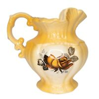 """Pitcher Collectible Vintage 1975 Arneis Brown Water Pitcher, Arneis Pottery 6"""""""