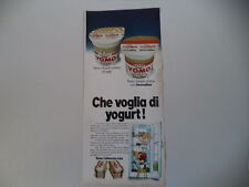 advertising Pubblicità 1973 YOGURT YOMO