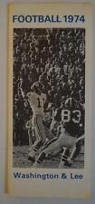 Vintage Football Media Press Guide Washington & Lee University 1974