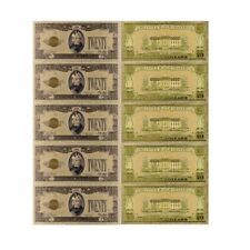 5pcs 1928 Year Gold Plated Fake Money Collectible Gold Banknotes Usa 20 Dollars