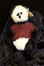 """Ty Beanie Baby Attic Treasures Collection  jointed Panda Bear - 1993 """"Checkers"""""""