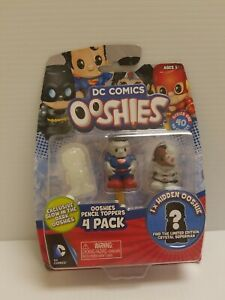 Ooshies DC Comics Pencil Toppers 4 Pack Series 1 Hidden mystery Ooshie