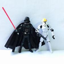 2x STAR WARS TROOPER & Darth Vader Action Figures 501st Clone Pilot Hasbro Toys