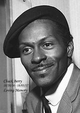 Chuck Berry Portrait in Black/White. Loving Memory Poster/Photo.Free Shipping UK