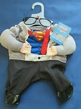 Superman DC Comics Superhero L Dog Pet Gray Halloween Costume & glasses New