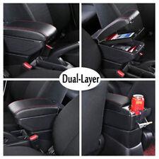Car center armrest for Ford Focus II MK2 2005-2011 leatherette armrest textile #