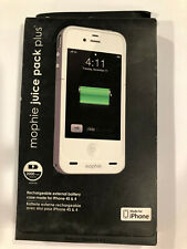 NEW! FULLY CHARGED White Mophie Juice Pack Air 100% Battery Case iphone 4S & 4