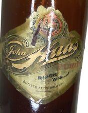 Vintage 1800's Pre-Pro John Haas Purity Beer Blob Top Bottle W/ Labels Ripon Wi