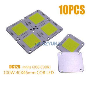 100W COB LED 40X46mm white 6000K LED Chip Source for Flood Light DC12V 10PCS