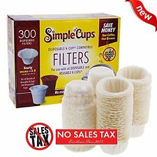 300 Disposable Coffee Filters Replacement Simple K Cups Used in Keurig Brewers