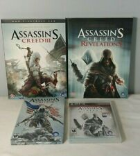 Assassin's Creed III PS3 Tin Case / Game & Revelations Lot W/  Strategy Guides