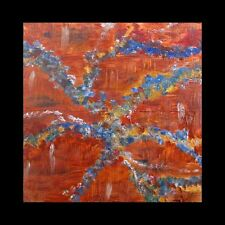 Copper Painting Original Art Metal Unique 24x24 Home Decor Atlanta Artist