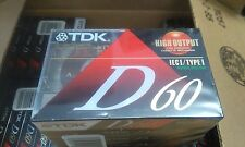 TDK D60 Vintage Audio Cassettes 12 x 7 Packs [84] *FULL CASE*  Made In USA