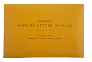 NEW Sir Madam Love Letter Napkins Edition I Sets II and III (Sets of 4) $108