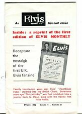 Elvis Presley Monthly Magazine Number 1 Issue Reprint EX No ML 053017nonjhe