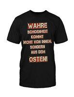 Ossi Schönheit T-Shirt Fun Funny DDR Ostdeutsch Trabbi Simson Sprüche Mauer Kult