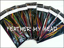 50 Pc Discounted Cheap Feather Hair Extensions Grizzly And Solid Wholesale