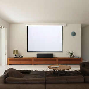 60-100 Inch  Home Movie Manual Screen Pull Down Wall Mounted Projector Screen