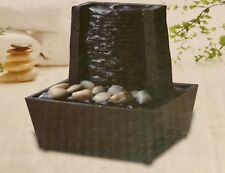 Mini Tranquility Fountain Curve Wall Look Cordless Soothing Sound Wedding Home
