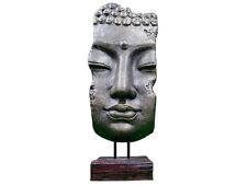 BUDDHA Gesicht 80 cm MASKE Standmaske Kopf Gold/Braun Stein Feng Shui Neu