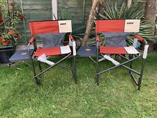 Quest Leisure Autograph Surrey Directors Chair In Paprika And Cream x 2 Pair