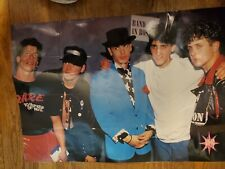 Vintage New Kids On The Block Laminated Poster Lot, Nkotb
