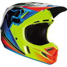 FOX V4 RACE MOTOCROSS MX HELMET - BLUE / YELLOW enduro bike mtb bmx MIPS
