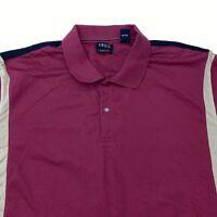 Izod XFG Cool-FX Polo Shirt Men's 2XL Short Sleeve Black Maroon Tan Cotton Blend