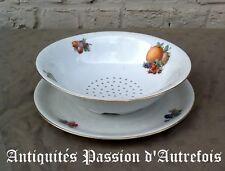 B201817 - Fraisier et plat en porcelaine de Bavière Schumann - Très bon état
