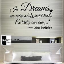 ALBUS DUMBLEDORE DREAMS ENTER OWN WORLD - HARRY POTTER Vinyl Wall Sticker, Decal