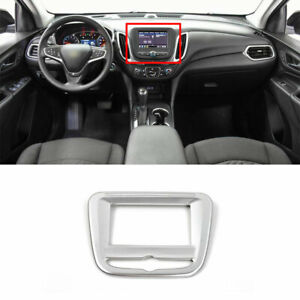 ABS Silver Central Console Navigation Frame Trim For Chevrolet Equinox 2018-2021