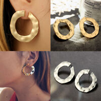 Vintage Punk Gold Silver Hoop Statement Earring Ear Stud Earrings Women Jewelry