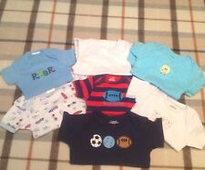 Baby boy mix lot onesies one-piece suit new Gerber Big Oshi Petit Lem Lamaze 0-3