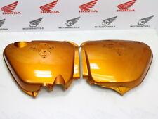 HONDA CB 750 FOUR k1 k2 side cover set Left + Right Side Candy Gold Custom repro