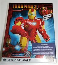 "Mega Bloks Iron Man 2 Mark VI  6"" Magnetic Buildable Figure Avengers NEW"