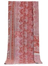 Indian Twin Handmade Ethnic Cotton Kantha Quilt Throw Rali Reversible Gudri Art