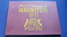 1978 MAURITIUS Uncirculated 7 Coins Mint Proof Set in Original Pack