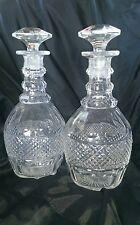 Pair antique cut glass decanters