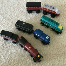 Lot of 7 wooden trains Imaginarium compatible with Thomas & Friends
