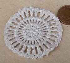 1:12 Scale Hand Made 5cm Cream Crochet Doily Tumdee Dolls House Miniature Ca