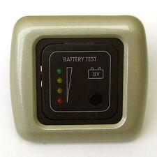 Voltaje de batería Test Panel Champagne indicador Caravana Casa Rodante Barco 12v CBE
