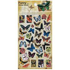 ✰ CUTE BUTTERFLY STICKERS Sheet Insect Korean Paper Kid Craft Scrapbook Sticker
