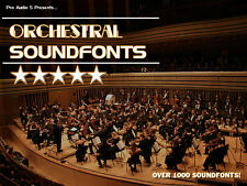 Orchestral Soundfonts  - Over 1000 SF2 Instruments  - Samples DVD