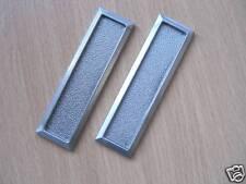 VIVARIUM sliding glass DOOR HANDLES finger pulls SILVER