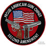 PROUD AMERICAN GUN OWNER EMBROIDERED 1911 PATCH LARGE 2nd AMENDMENT IRON-ON new