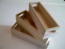 Mini Estilo Antiguo Madera Cajas - Conjunto De 3 almacenamiento en el hogar